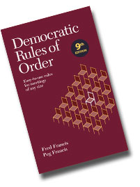 Democratic Rules of Order book cover