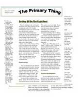 The Primary  Thing, newsletter for Grade One parents